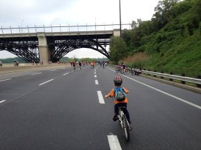 Approaching the Bloor Viaduct