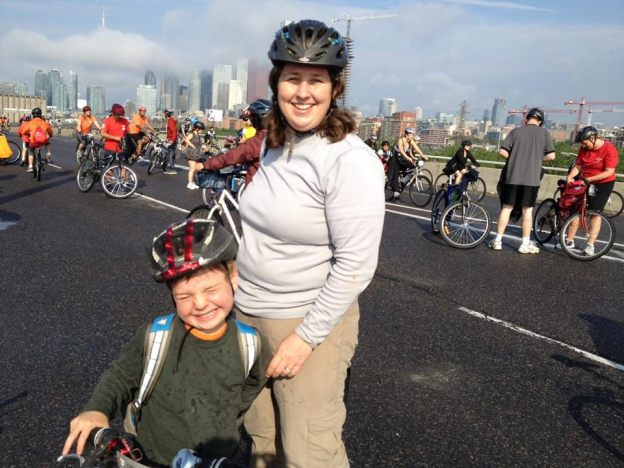 Top of the DVP CN Tower in Clouds Ride for Heart