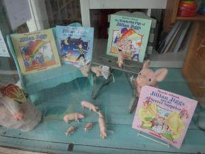 Their window display for the Storymob.