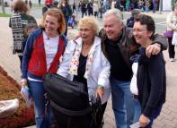 Gretel Meyer Odell and Roxanne Deans are seen here with Loris Lysynski and Micheal Martchenko