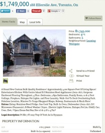New build 188 Ellerslie Ave (MLS# C2783699) re-listed with new agents after months of not selling (MLS#C2639633). New price $1,749,000