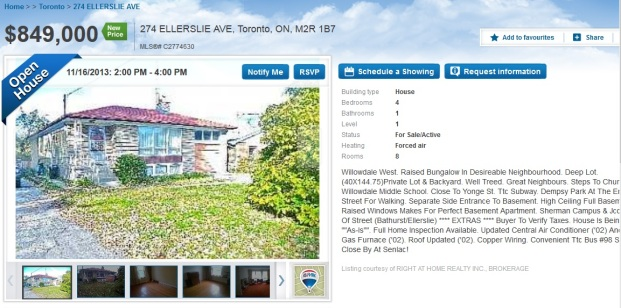 On the other side of Senlac 274 Ellerslie (C2774630) listed last week and I believe reduced since then but not 100% sure, now $849,000
