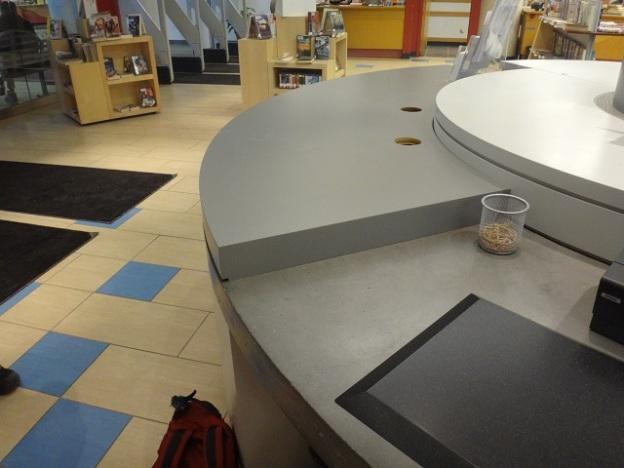 checkout desk construction