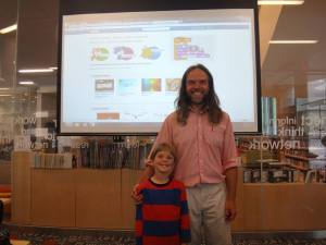 Naxder and his Dad leading Scratch Day